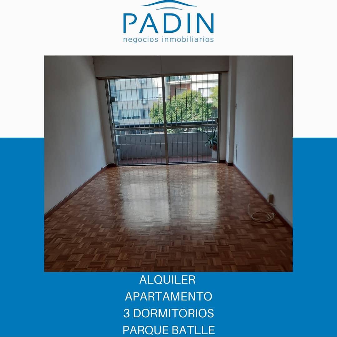 ALQUILADO – Alquiler apartamento de 3 dormitorios en Parque Batlle.