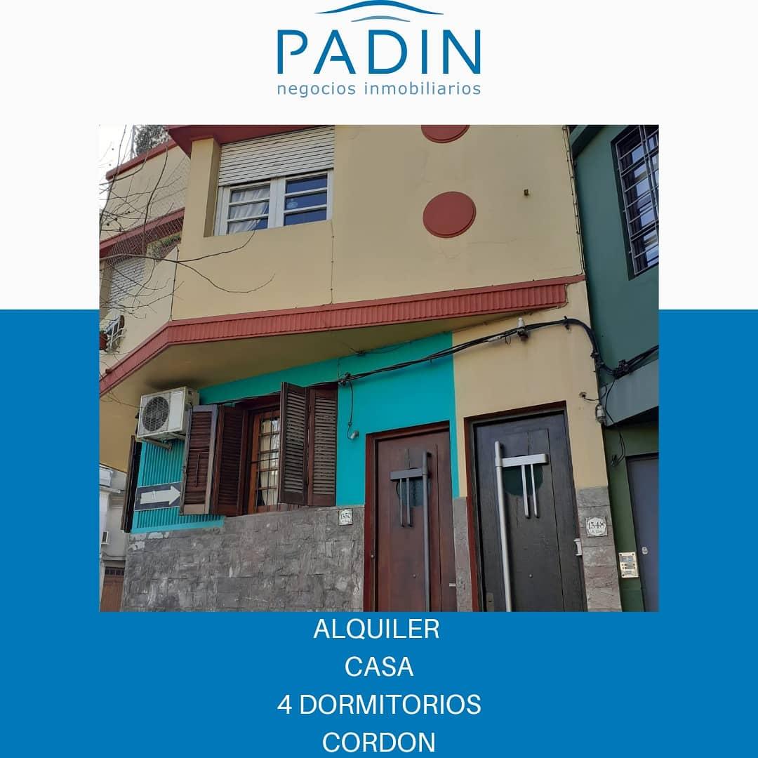 SEÑADO – Alquiler casa de 2 plantas en barrio Cordón.