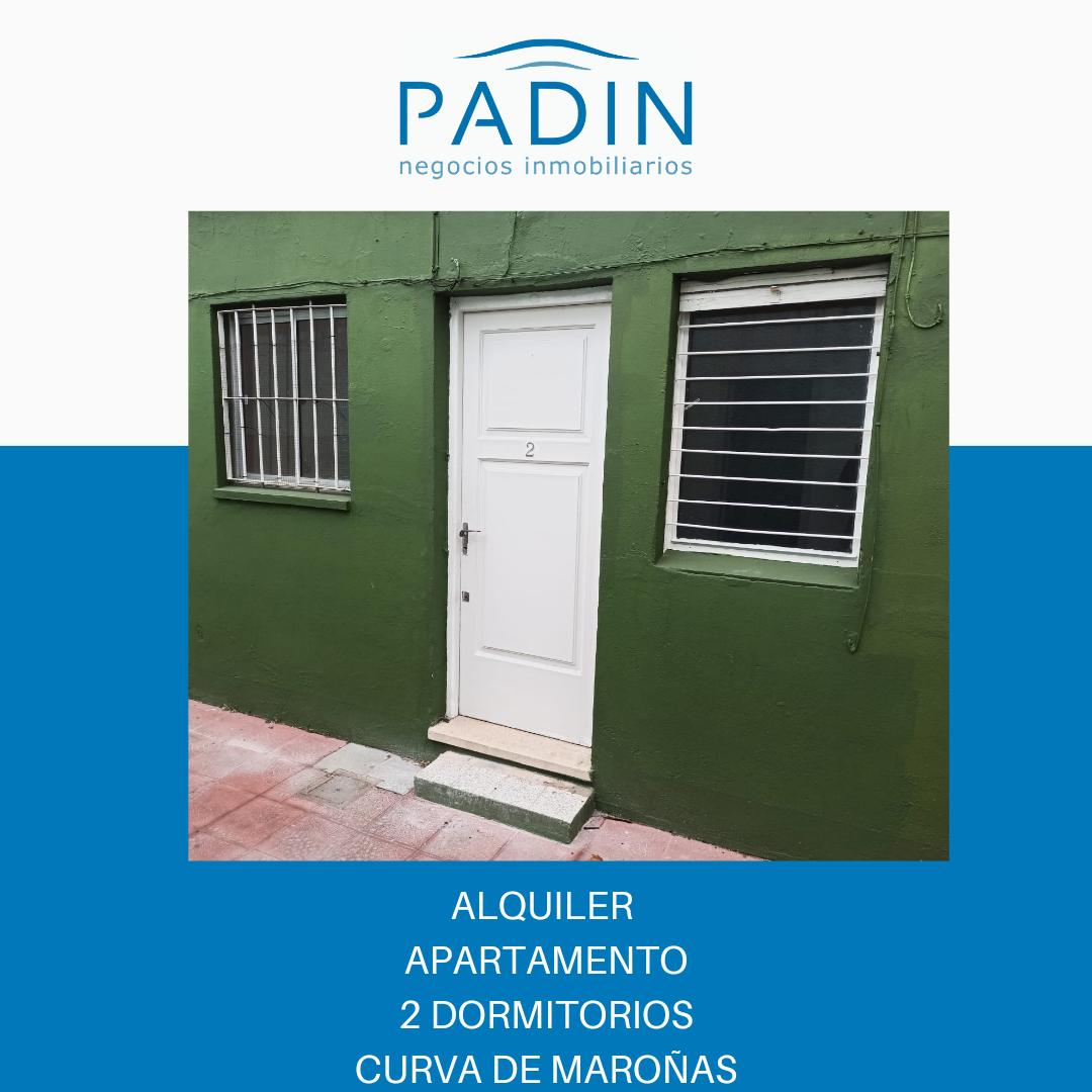 Alquiler apartamento de 2 dormitorios en barrio Curva de Maroñas.