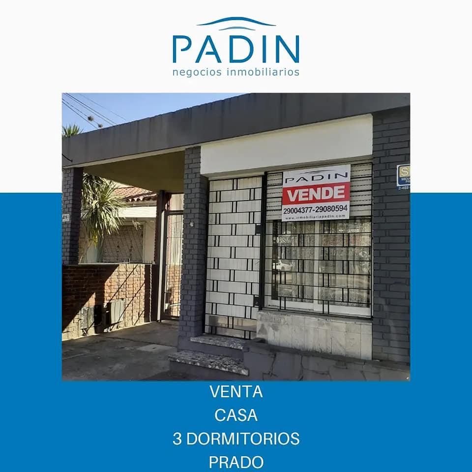 Venta de casa con 3 dormitorios en barrio Prado.
